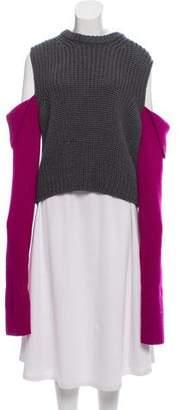 Calvin Klein Wool Cold-Shoulder Top