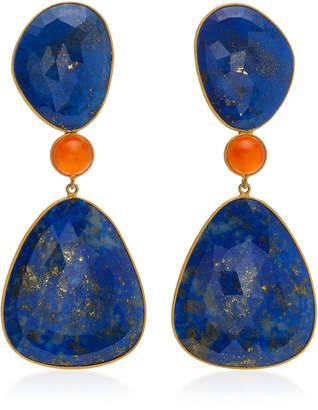 Lapis Bahina 18K Gold And Carnelian Earrings