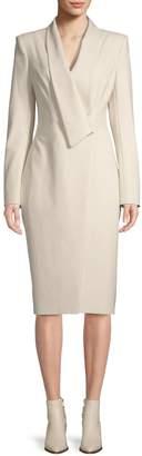 Zac Posen Shawl Collar Knee-Length Coat