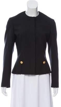 Versace Collarless Embellished Jacket