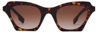 Burberry Cat Eye Tortoiseshell Acetate Sunglasses - Womens - Tortoiseshell