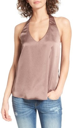 Women's Socialite Satin Halter Top $35 thestylecure.com