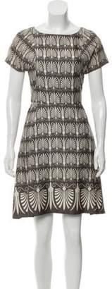 Marni Abstract-Printed Mini Dress grey Abstract-Printed Mini Dress