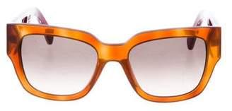 27dc6ff64427 Fendi Blonde Havana Square Sunglasses