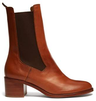 A.P.C. Nicole Leather Chelsea Boots - Womens - Tan