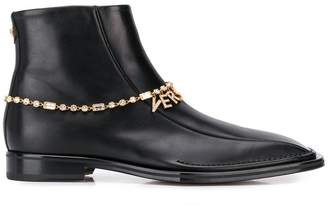 Versace Quentin ankle leather boots