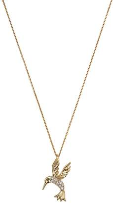 Bloomingdale's Diamond Hummingbird Pendant Necklace in 14K Yellow Gold, .09 ct. t.w.