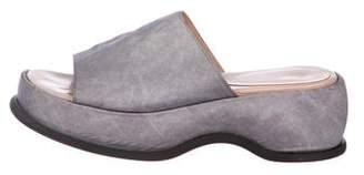 Robert Clergerie Neoprene Platform Sandals