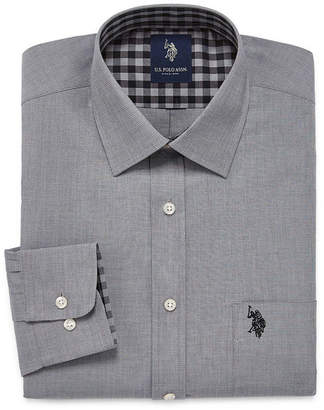 U.S. Polo Assn. USPA Slim Fit Easy-Care Long Sleeve Dress Shirt