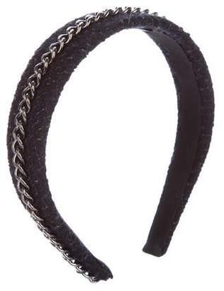 Chanel CC Tweed Chain-Link Headband
