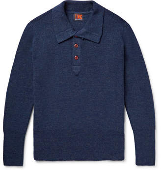 The Workers Club - Ribbed Merino Wool Half-Placket Sweater - Men - Storm blue