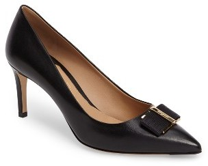 Women's Salvatore Ferragamo Ornament Bow Pointed Toe Pump $660 thestylecure.com