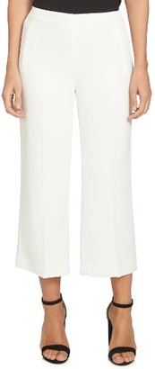 Women's Cece Moss Crepe Crop Trousers $99 thestylecure.com