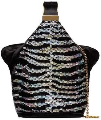 Bienen Davis Kit zebra-sequin bucket bag