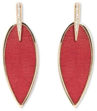 Vince Camuto Red Feather Earrings