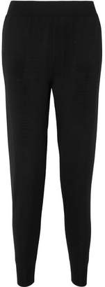 Stella McCartney Fine-knit Wool Track Pants - Black