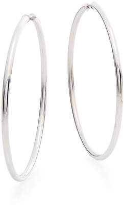 Saks Fifth Avenue Women's Sterling Silver Hoop Earrings/2.25""