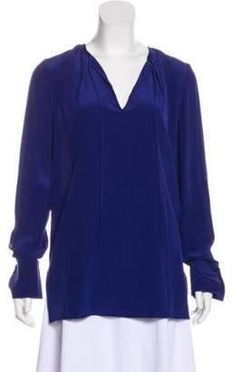Diane von Furstenberg Long Sleeve Silk Blouse w/ Tags