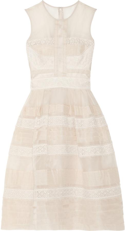 Silk-organza and lace dress