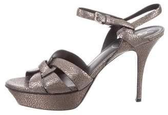 Saint Laurent Tribute Metallic Sandals