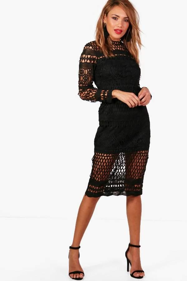 Boutique Veronique Lace Midi Dress