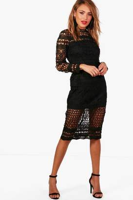 boohoo Boutique Veronique Lace Midi Dress