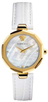 Versace Women's Idyia Lizard Embossed Leather Strap Watch, 36mm