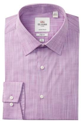 Ben Sherman Stretch Slub Florentine Tailored Slim Fit Dress Shirt