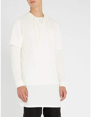 PROFOUND AESTHETIC Kurta longline cotton-jersey hoody