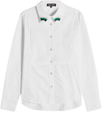 Markus Lupfer Penny Pintuck Cotton Shirt