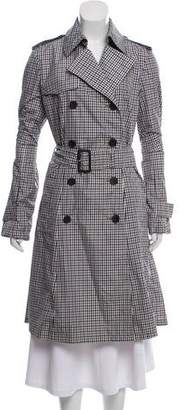 Aquascutum London Double-Breasted Gingham Coat