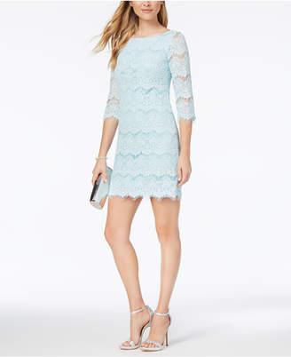 Jessica Howard Lace Illusion Sheath Dress, Regular & Petite Sizes