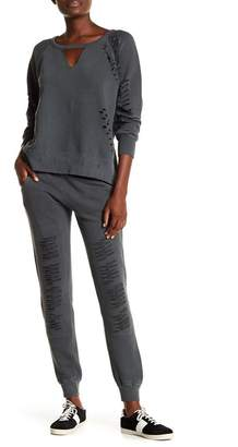Ocean Drive Distressed French Terry Sweatpants