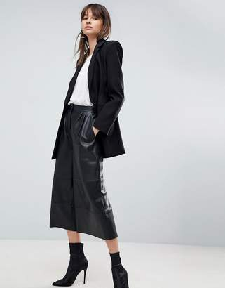 Asos Premium Leather Culotte