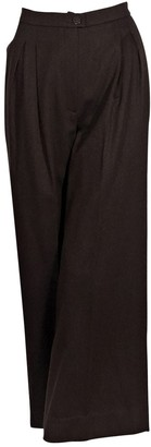 Chanel Brown Wool Trousers