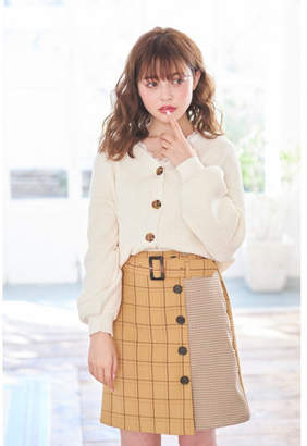 INGNI (イング) - INGNI 柄切替チェック台形スカート