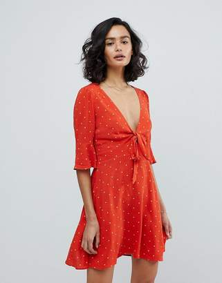 Free People All Yours Spot Mini Dress