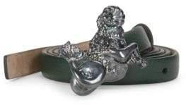 Valentino Textured Leather Belt
