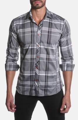 Jared Lang Trim Fit Plaid Sport Shirt