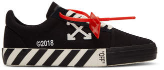 Off-White Off White Black Striped Vulcanized Sneakers