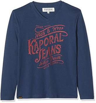 Kaporal Boy's Amoby Long Sleeve Top, Blue US