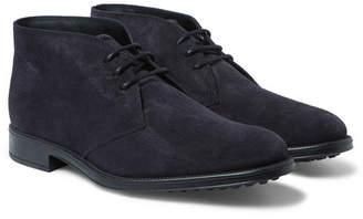 Tod's Suede Desert Boots - Navy
