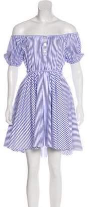 Caroline Constas Bardot Off-The-Shoulder Dress