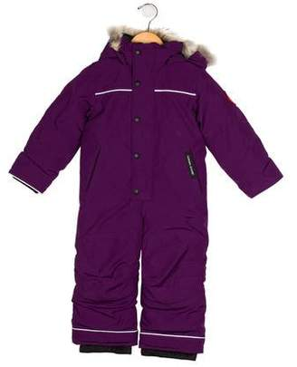 Canada Goose Girls' Fur-Trimmed Grizzly Snowsuit