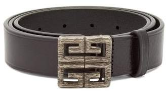 Givenchy Logo Buckle Leather Belt - Mens - Black