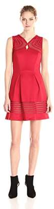 Jax Women's Fit-and-Flare Dress with Tonal Stripes