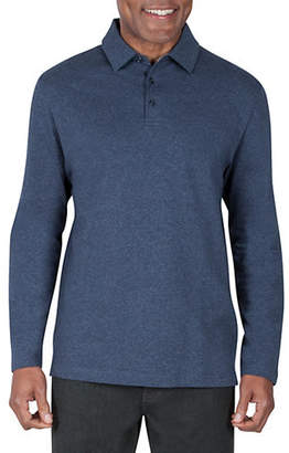 Haggar Regular-Fit Long-Sleeve Cotton Polo
