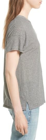 Women's Rag & Bone/jean Stripe Linen Blend Tee 4