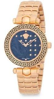 Versace Studded Stainless Steel Analog Bracelet Watch