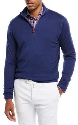 Kiton Cashmere Half-Zip Sweater